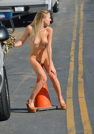 Hot naked women in public
